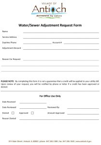 water and sewer credit request form antioch il