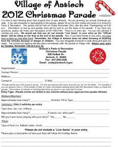Antioch Il Christmas Parade 2020 Christmas Parade Application – Antioch, IL