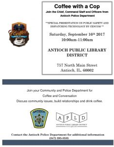Coffee With The Cop Sept