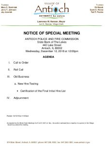 12-12-18 Police And Fire Special Meeting