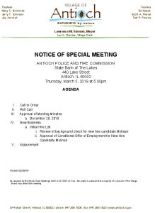 03-05-19 Police And Fire Special Meeting