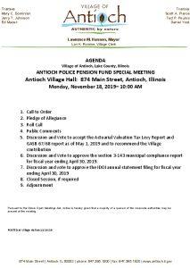 11-18-19 Police Pension Agenda
