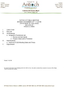 11-25-19 Police And Fire Special Meeting