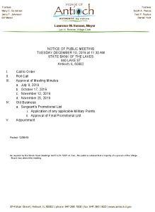 12-10-19 PFC Special Meeting Agenda