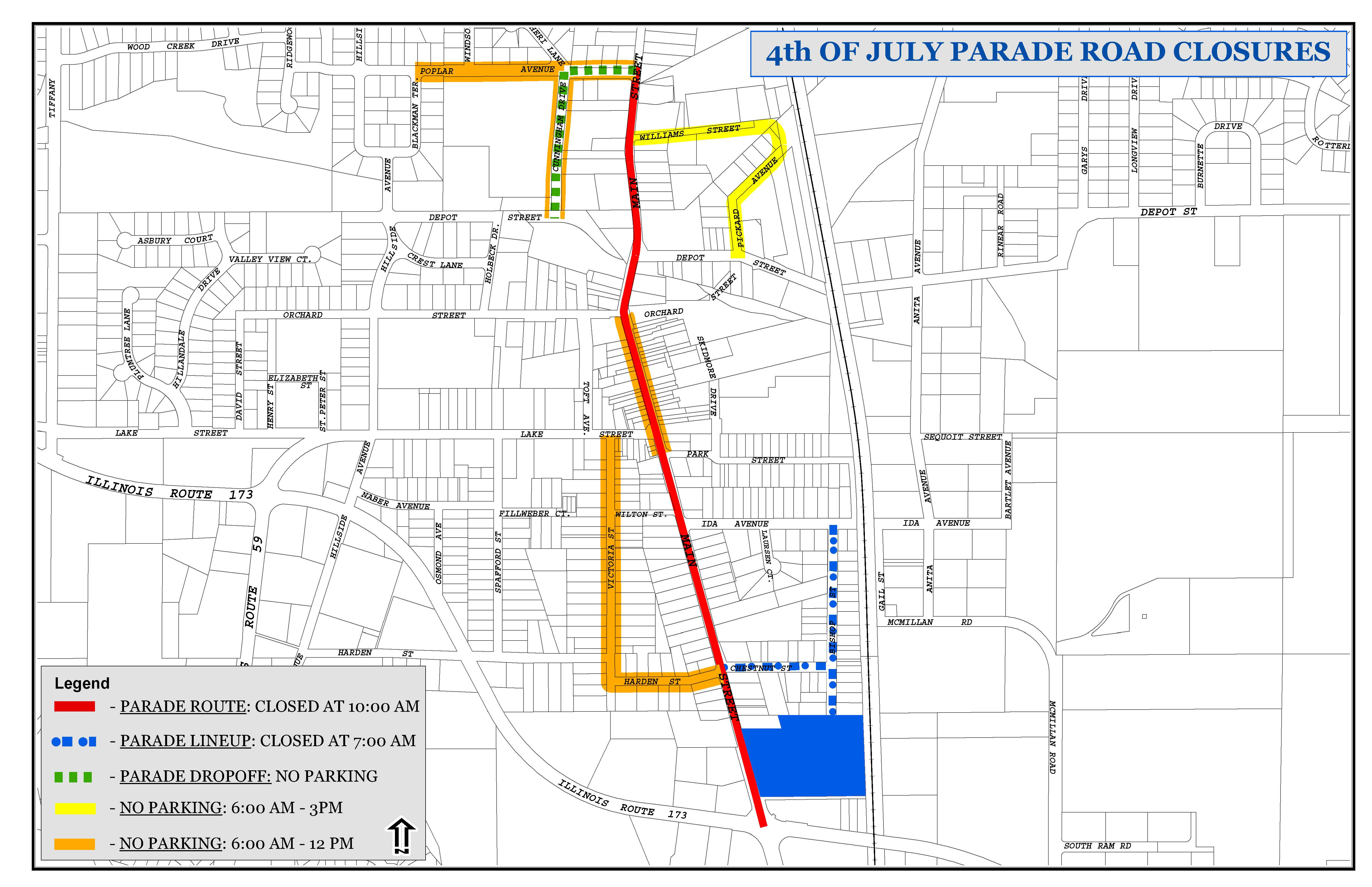 4th of July Road Closures – Antioch, IL