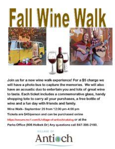 Fall Wine Walk @ Downtown Antioch